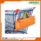 Großhandelsvliesstoff-Supermarkt-mehrfachverwendbarer faltbarer faltender Einkaufswagen-Laufkatze-Beutel