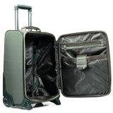 Fördernder Großhandelsnylonarbeitsweg-Laufkatze-Beutel mit PU-Ordnungen, Handgepäck-Koffer mit Rädern
