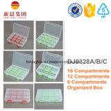 6 compartimiento de almacenamiento caja de plástico
