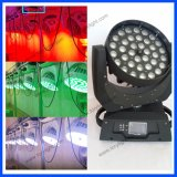 LEDの段階軽い移動ヘッド36PCS*12Wズームレンズ