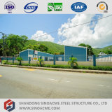 Полуфабрикат светлое офисное здание стальной структуры