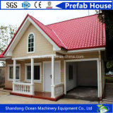 Casa móvel Prefab da casa pré-fabricada bem-desenvolvida do luxo da construção de aço clara