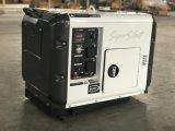 Leiser Dieselgenerator-hölzernes dreiphasigpaket Soem-5kVA