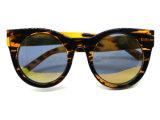 Óculos de sol da tartaruga da viseira das mulheres da forma com frame Tr90