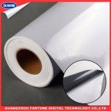 Anunciando o vinil autoadesivo do PVC da colagem cinzenta para o material da impressora