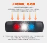 la Banca a energia solare di potere 6000mAh con un indicatore luminoso dei 3 LED e la funzione di modo di SOS