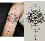 Etiqueta engomada temporal impermeable del arte de carrocería de las etiquetas engomadas del tatuaje de la flor