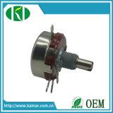 Potentiomètre à film rotatif à 2W avec arbre métallique Wh118-1A
