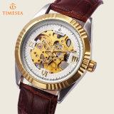 贅沢な骨組機械腕時計の高品質の革バンド腕時計72456