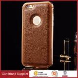 Caisse protectrice de luxe de téléphone de cuir de qualité de qualité supérieur pour l'iPhone