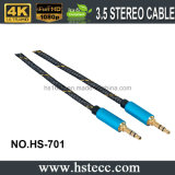 High Definition 3,5 mm Audio-Stereo-Kabel mit vergoldeten Stecker