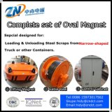 Het Leegmaken van de vrachtwagen Magneet die voor de Installatie van de Kraan met 6000 het Opheffen aanpassen Kg van de Capaciteit MW61-380160L/1-75