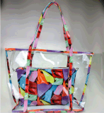 2017 New Summer Beach Bag Printing Transparent Plastic Handbag (BDMC132)