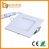 3W 6W 9W 12W 15W 18W 24W Flush Ultra-Slim montado en panel cuadrado de luz LED