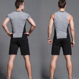 Pantalones cortos del Tracksuit del deporte de la camisa de la compresión de la manera de los hombres
