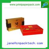 Rectángulo de empaquetado del papel revestido del OEM del vino rígido del regalo