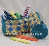 円形のジッパーの鉛筆袋ファブリック筆箱