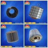 Disipador de calor de aluminio competitivo de la protuberancia del perfil del LED con la capa negra