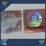 Einfacher geschädigter transparenter Hologramm-Aufkleber