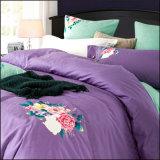 寝室のためのカスタマイズされた贅沢なブラシの綿の双生児の寝具