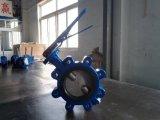 Válvula da bolacha do ferro de molde Pn16 e de borboleta do talão com volante
