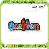 Kundenspezifische fördernde Geschenk-Dekoration-weiche Gummikühlraum-Magnet-Andenken Boston (RC- US)