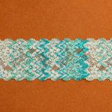 ほとんどの普及した伸張のウェディングドレスのボーダーレースの織物