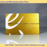 Серебряная карточка золота с подписью для VIP