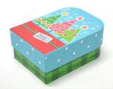 Caja de regalo de papel de Navidad con tapa