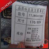 Etiqueta de cuidado de lavagem da instrução da alta qualidade por atacado para a roupa
