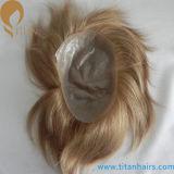 Haar-Abwechslungen super dünne Schleifen-der indischen Haar-Männer der Haut-V