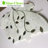 아름다운 소형 잎 벽 가격을%s 유리제 Waterjet 모자이크 대리석 도와