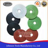75-125mm Type de moule en spirale Diamond Polishing Pads for Polishing Granite and Marble