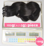 7A等級の最上質のRemy 100%の自然なブラジルのバージンの人間の毛髪の拡張毛の織り方Lbh 088