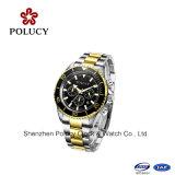 Horloge van de Mens van het Roestvrij staal van het Horloge van het Merk van de Douane van de Horloges van de Chronograaf van Miyota OS21 het Moderne