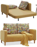 配管カバーが付いている優雅な小型愛シートのソファー