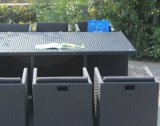 H中国SGSの熱い販売法の屋外の柳細工の藤の椅子