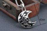 De Schedel Head&#160 van de Ontwerper van mensen; De Juwelen van de Halsband van het Roestvrij staal van het Titanium van de Manier van de tegenhanger