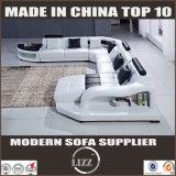 Самомоднейшая живущий софа угла кожи мебели комнаты (LZ-2217)