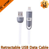 Datos de la transferencia y cable de carga del USB para el iPhone y el androide