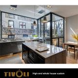 光沢度の高い絵画食器棚の木製のベニヤのワードローブの全家の家具Tivo-052VW