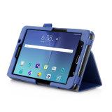 para la cubierta de cuero superior del soporte de la caja de la PU de la serie de la caja de la tablilla de Samsung