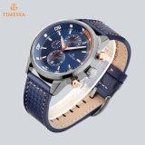 Reloj 72777 del acero inoxidable del cuarzo del reloj del cronógrafo de los hombres elegantes luminosos estupendos del reloj