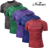 Люди Neleus сушат подходящую тенниску Dt5008 износа пригодности рубашки обжатия