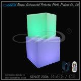 Cadeira do assento do cubo do diodo emissor de luz da mobília da iluminação com mudança da cor