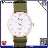 Reloj ocasional de la promoción de Japón Movt del diseño Yxl-483 de la correa de la OTAN del deporte del reloj de las mujeres de nylon clásicas calientes de los hombres