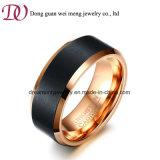 Nam Ring van de Juwelen van het Carbide van het Wolfram van Gouden de hoog Opgepoetste Mensen toe