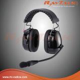 対面ラジオのためのヘッドヘッドバンド上のが付いている戦術的で頑丈なヘッドセット