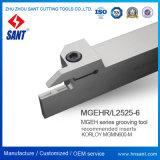 Oberfläche die CNC-Toolholder, die Hilfsmittel Mgehr2525-6 fugt, glich ISO-Einlagen ab