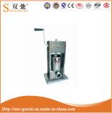 セリウムのレストラン装置の手動ソーセージの注入口のステンレス鋼の注入口